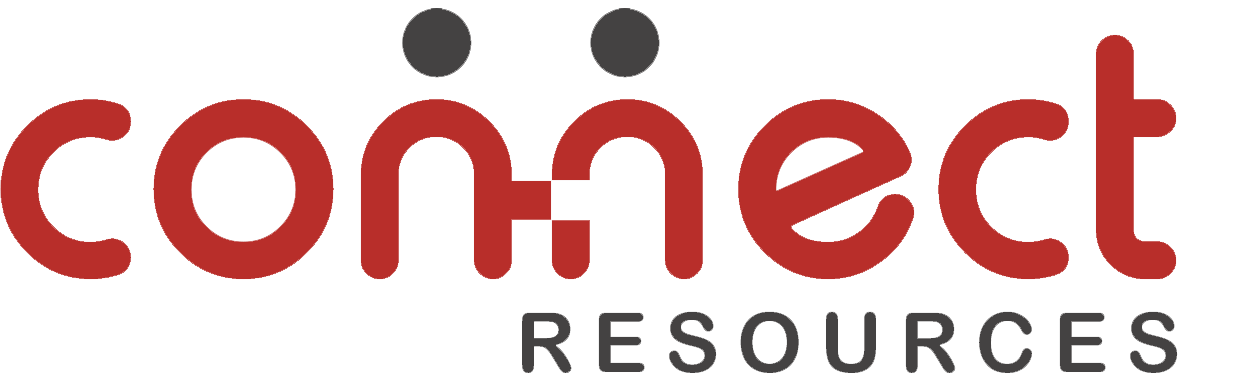 Logo Connect Resources - Intense red